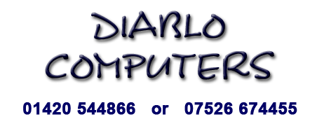Diablo Computers Logo Call 01420 544866
